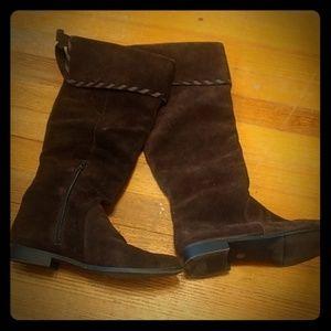 Ana dark brown suede boots women's 7 1/2